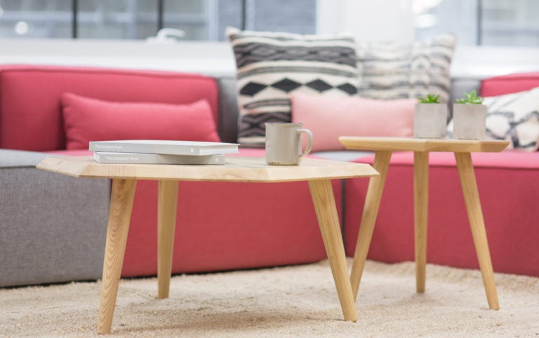 Voice of Employees - Pink Sitting Area - Coffee Table   The DRG